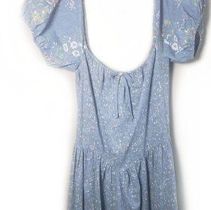 Vintage Floral Boho Off Shoulder Ruffle Maxi Dress